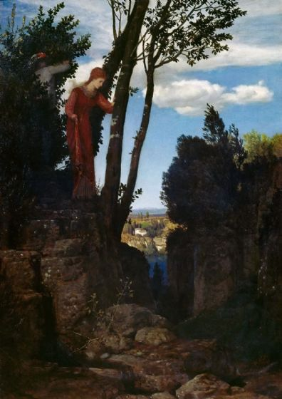 Bocklin, Arnold: The Honeymoon. Fine Art Print/Poster. Sizes: A4/A3/A2/A1 (004257)